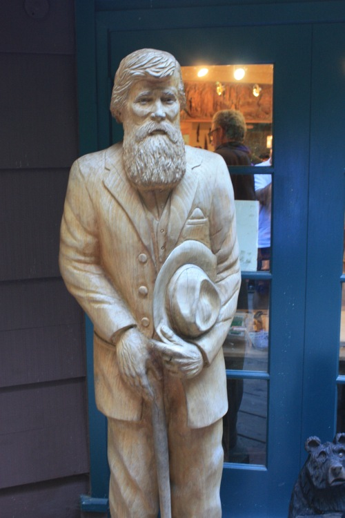 John Muir statue at Muir Woods in San Francisco